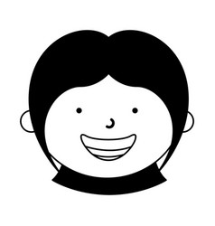 Little ethnic girl character vector