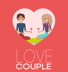 love couple man and woman vector image