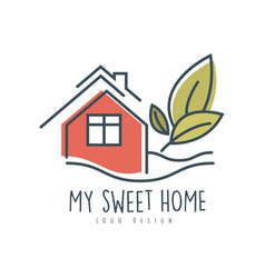 my sweet sweet home logo design ecologic home vector image