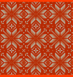 Nordic knitted perfect seamless pattern eps 10 vector