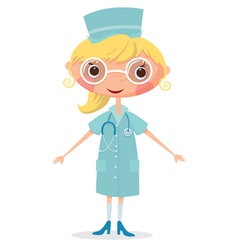 Nurse with stethoscope vector image