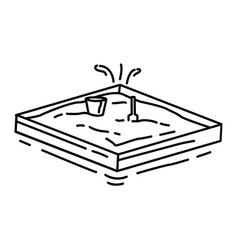Playground kids sandbox vector