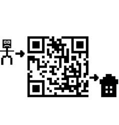 Qr labyrinth vector