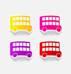 Realistic design element bus double decker vector
