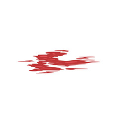 red brush stroke on a white vector image