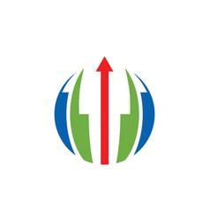 Round abstract arrow logo vector