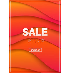 sale advertising promotional poster vector image