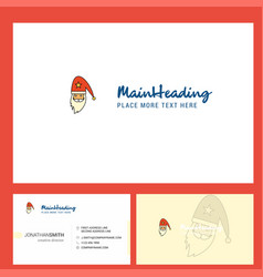 santa clause logo design with tagline front and vector image