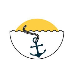 Sea anchor isolated icon vector