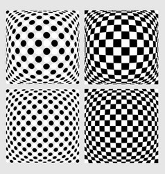 Set of dotted checkered backgrounds patterns vector