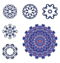 Set of six mandalas vector image
