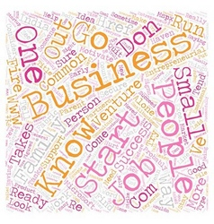 Signs of an Entrepreneur text background wordcloud vector image