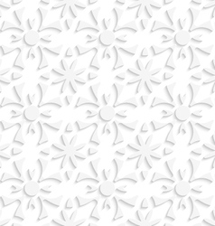 Simple geometrical white repainting flowers vector