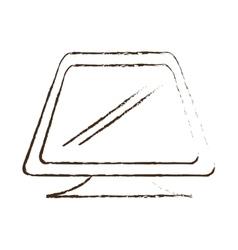 Sketch draw screen computer equipment office vector