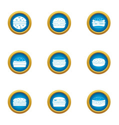 Squeeze icons set flat style vector