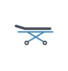 Stretcher bed icon patient hospital vector
