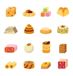 Sweets dessert isolated food vector