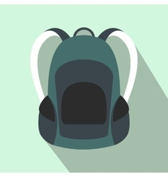 Touristic backpack flat icon vector image