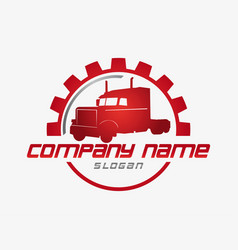 truck business logo vector image