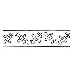 turkish design is a border design vintage vector image