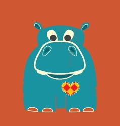valentine hippo vector image vector image
