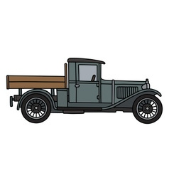 Vintage gray truck vector