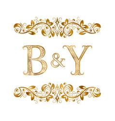 Vintage initials logo symbol letters b vector
