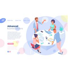 Webbusiness communication in office vector