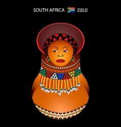 Zulu girl vector