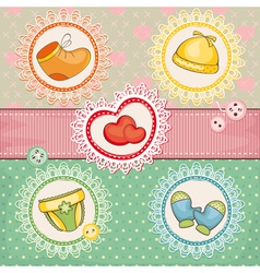 abstract cute lovely baby card vector image vector image