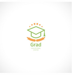 Isolated abstract orange and green color graduate vector