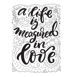 lettering love theme vector image