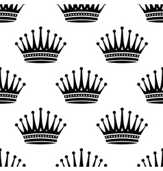 Royal crown seamless background pattern vector image