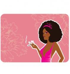 smoke women vector image vector image
