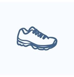 Sneaker sketch icon vector image vector image