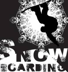 snowboarding vector image