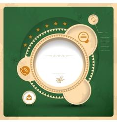vitage web design vector image