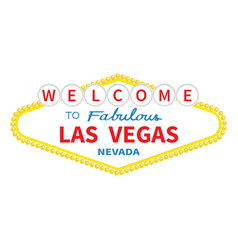 welcome to las vegas sign icon classic retro vector image