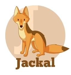 ABC Cartoon Jackal vector image vector image