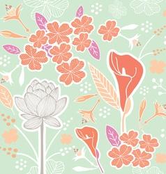 flower pattern set 1B vector image vector image