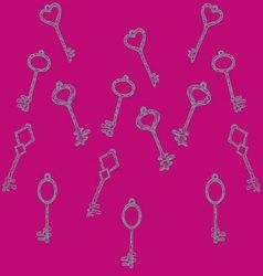 pattern keys vector image