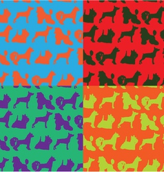 Seamless pop art style background with dogs vector image vector image