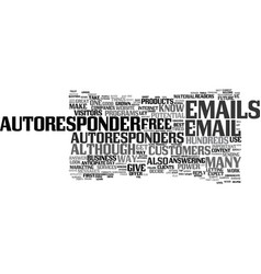 the power of autoresponders text background word vector image vector image