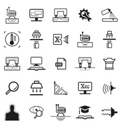 eddy current pictogram vector image vector image