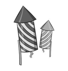 Firecracker icon black monochrome style vector image vector image