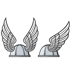 gaelic helmet with wings vector image