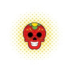 Latin skull icon comics style vector image vector image