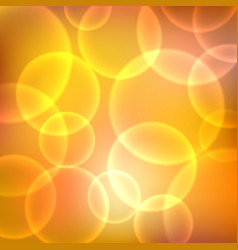 shining orange background with light effects vector image