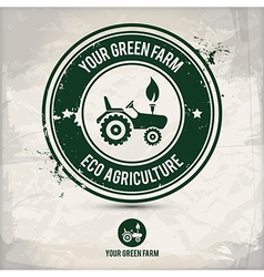 alternative green farm stamp vector image