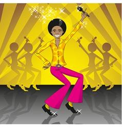 Dancing and singing boy vector image vector image